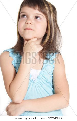 Thoughtful young girl
