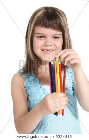 Creative young girl