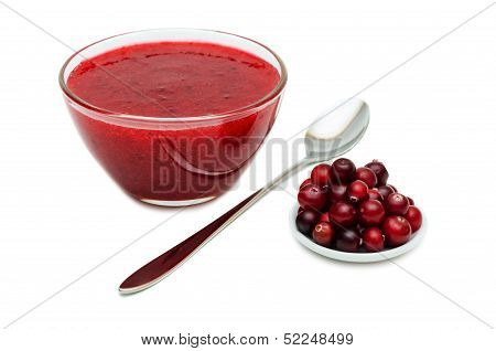 Cranberry Sauce With Spoon