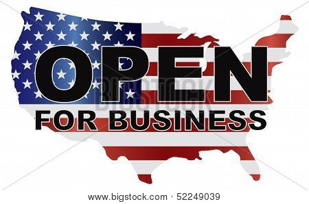 Government Shutdown Usa Map Open For Business