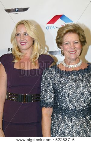 HOLLYWOOD -   Princess Theodora and Queen Anne-Marie of Greece arrive at the 2013 Philhellenes Gala benefiting Praksis at the SkyBar on October 9, 2013 at the Mondrian Los Angeles, West Hollywood, CA.