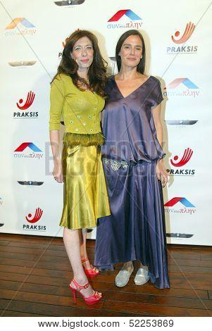 HOLLYWOOD - Elena Giammas and Marie Halaka arrive at the 2013 Philhellenes Gala benefiting Praksis at the SkyBar on October 9, 2013 at the Mondrian Los Angeles, West Hollywood, CA.