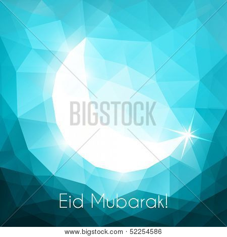 Eid greeting card with crescent - eps10