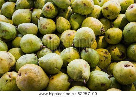 Fresh Pears At Market.