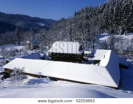 farm, Bzove, Beskydy, Czech Republic