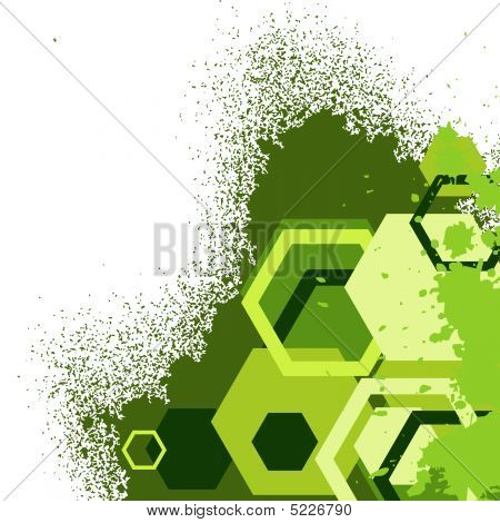 Stylish Green Banner. Vector Illustration