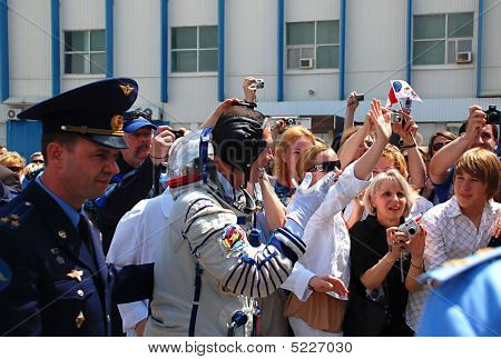 Seeing Off Belgian Astronaut Frank DeWinne