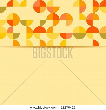 Abstract Background With Circles On An Yellow Background.vector
