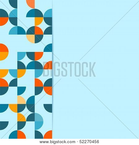 Abstract Background With Circles On An Blue  Background.vector