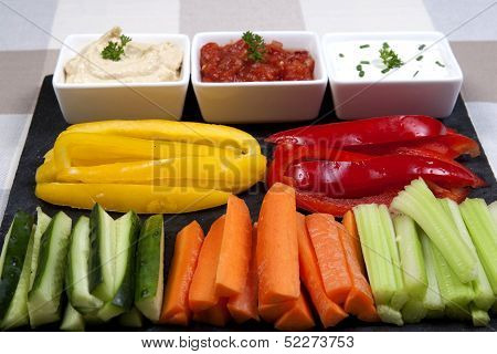 A tray of Dips