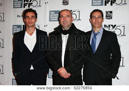 NEW YORK-OCT 12: (l-r) Adam Bakri, Hany Abu-Assad and Waleed Zuaiter attend