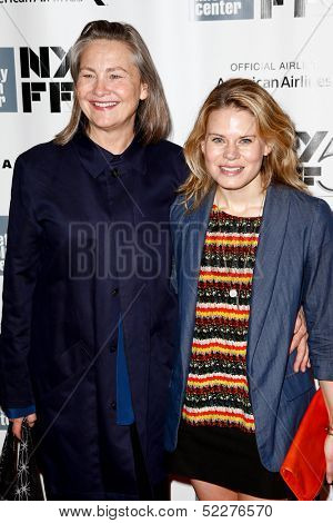 NEW YORK- OCT 8: Actors Cherry Jones and Celia Keenan-Bolger (R) attend the