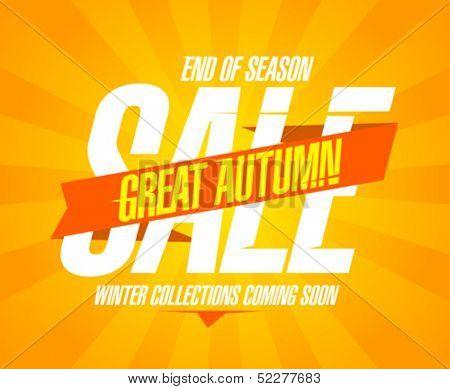 Great autumn sale design in retro style.