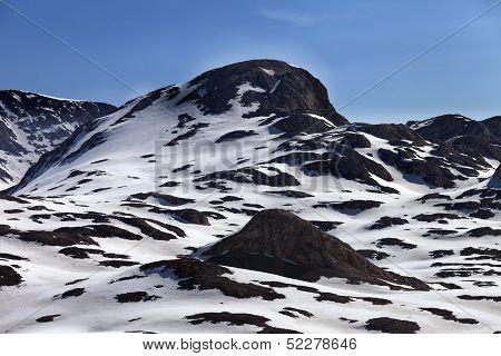 Rocks In Snow
