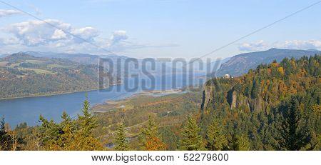 Columbia River Gorge Panorama Oregon.