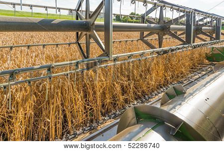 Closeup Of A Combine Harvester