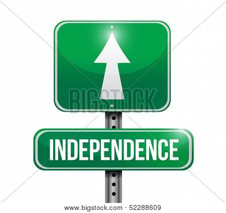 Independence Road Sign Illustration Design