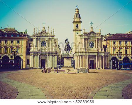 Retro Look Piazza San Carlo, Turin