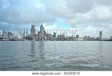 the bund waterfront hangpu river shanghai china