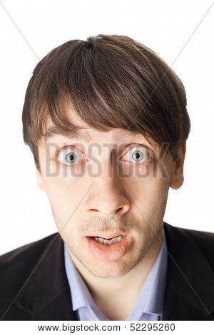 Emotional Portrait Of Surprised Man