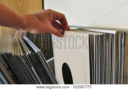 Browsing Vinyl Records