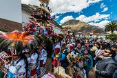 PISAC, PERU - JULY 16: Virgen del Carmen parade in the peruvian Andes at Pisac Peru on july 16th, 20