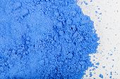 image of fraction  - Photo close up of blue paint on white background - JPG