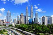 picture of petronas towers  - Kuala Lumpur skyline  - JPG