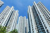 image of land-mass  - Hong Kong residential buildings - JPG