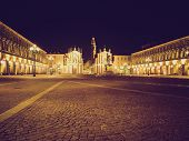 pic of turin  - Vintage looking Piazza San Carlo in Turin  - JPG