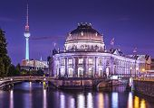 picture of dom  - Museum Island and TV Tower in Berlin - JPG