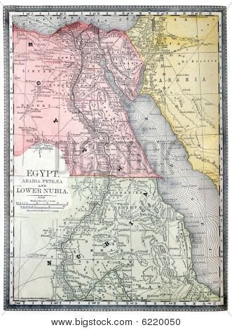 Old Map Of Egypt.