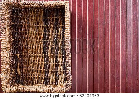 Background With Wicker Basket
