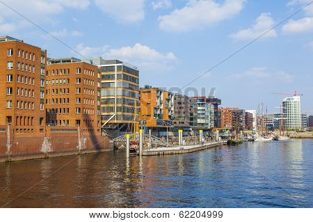 HAMBURG, GERMANY - JUNE 5, 2011: famous Hafencity nord in the Speicherstadt in Hamburg
