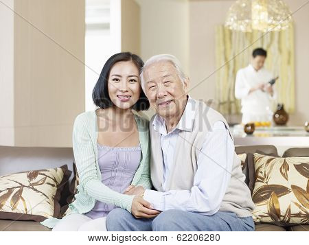 Senior Father And Adult Daughter