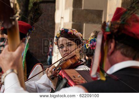 Folk Musicians In Krakow