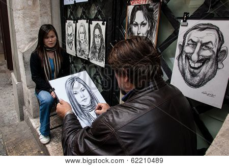 Making portraits in Krakow