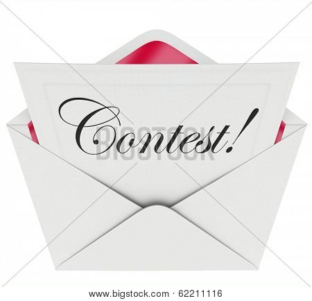 Contest Invitation Entry Form Letter Envelope