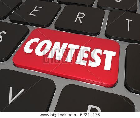 Contest Word Computer Keyboard Button Key Online Entry