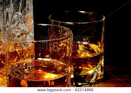 Close-up View Of Whiskey On A Table