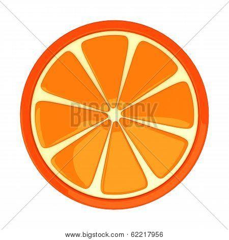 Orange fruit, 3d