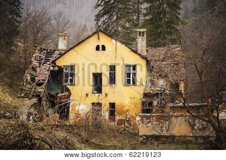 Old Ruined House In The Forest