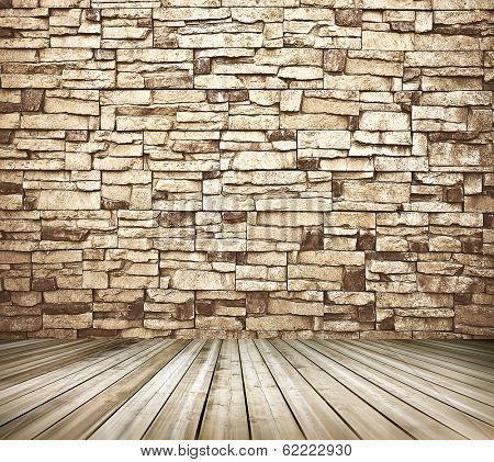 Space of vintage grungy paint black and brown brickwall background of cement, stone old dark stucco gray texture as a retro pattern wall in rural room from stonework technology, architecture wallpaper