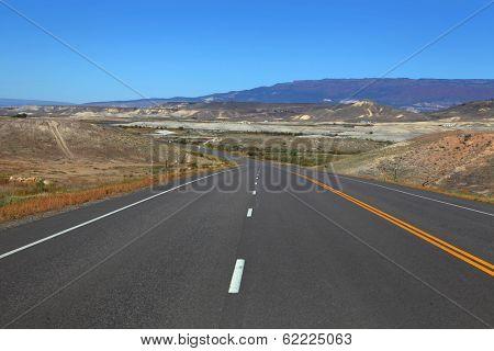 Scenic mountain high way at Gunnison Colorado