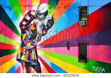Mural by Brazilian artist Kobra