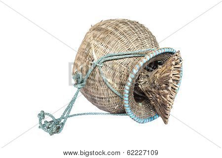 Basketry On A White Background