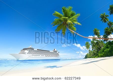 Cruise ship in the Summer time