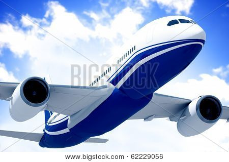 3D Generic Airplane in Mid Air