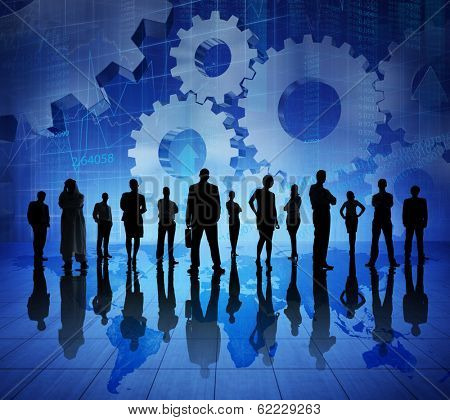 Group of Business Team on World Map