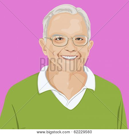Vector Portrait of Old Man